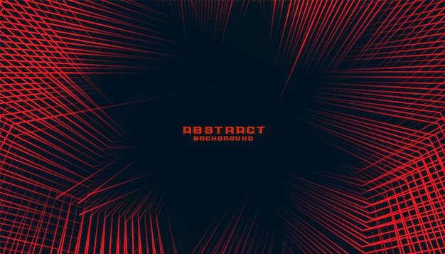 Arrière-plan de lignes abstraites dans le thème bichromie de couleur rouge et noir