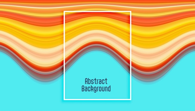Arrière-plan de lignes abstraites en lignes ondulées