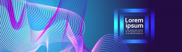 Arrière-plan de lignes abstraites vagues colorées