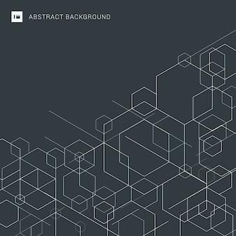 Arrière-plan de lignes blanches géométriques abstraites