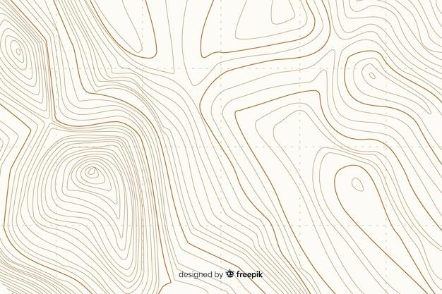 Arrière-plan de lignes blanches topographiques