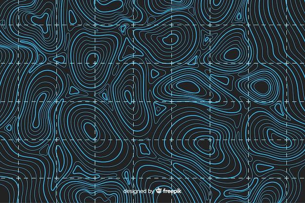 Arrière-plan de lignes bleues topographiques
