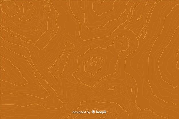 Arrière-plan de lignes topographiques sur les tons orange