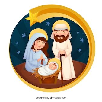 Arrière-plan mignon scène de la Nativité
