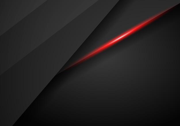 Arrière-plan de modèle abstrait tech noir cadre métallique mise en page moderne tech design