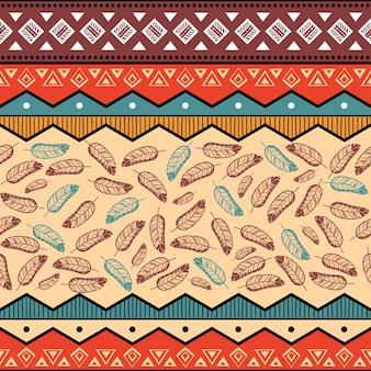 Arrière-plan de modèle ethnique tribal