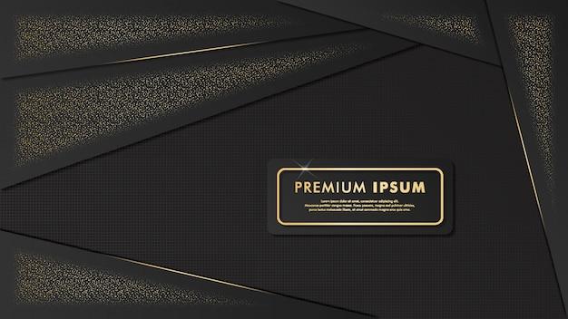 Arrière-plan de modèle fantaisie noir-or