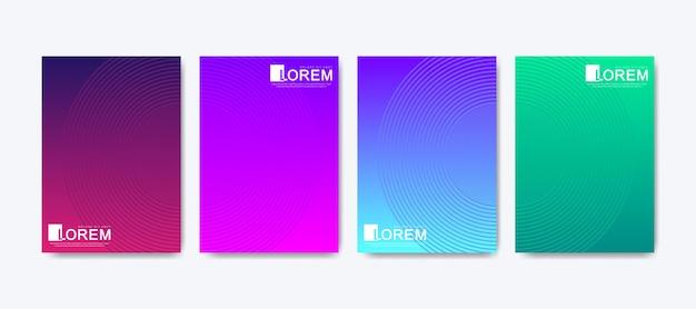 Arrière-plan de modèle de lignes de dégradé abstrait coloré moderne