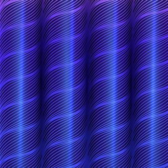 Arrière-plan de modèle de lignes de vague de rouleau ou de cylindre de style 3d.