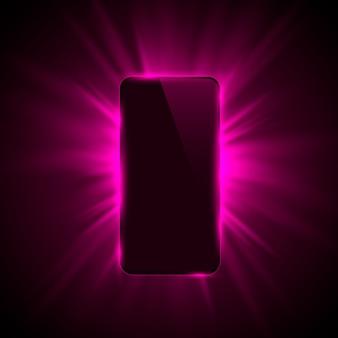 Arrière-plan moderne de conception de couleur de couverture de téléphone. illustration vectorielle
