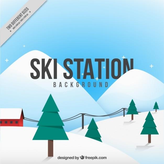 Arrière-plan de montagnes enneigées pour le ski