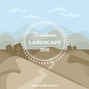 Arrière-plan de montagnes itinéraire