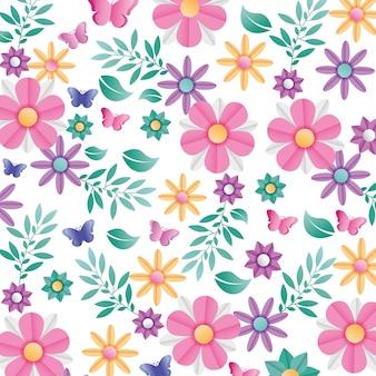 Arrière-plan de motif de fleurs. vecteur
