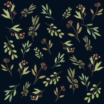 Arrière-plan de motif floral botanique