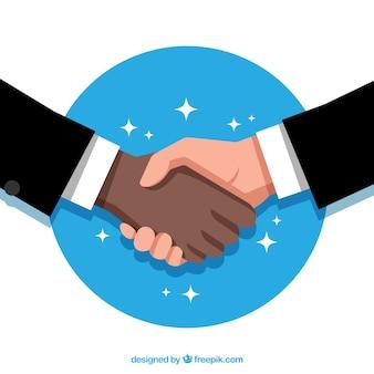 Arrière-plan de négociation d'affaires dans un style plat