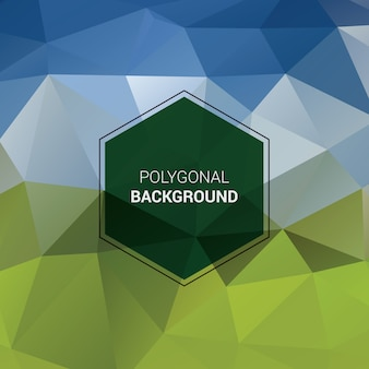 Arrière-plan Polygonal Coloré Vecteur Premium