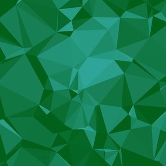 Arrière-plan polygonale brillant dans les tons verts émeraude de la forme de la mer