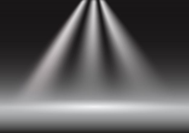 Arrière-plan de présentation d'affichage spotlight