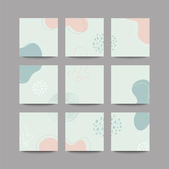 Arrière-plan de publication de médias sociaux en mode puzzle de grille avec transition transparente