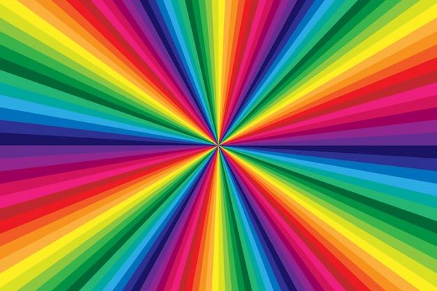 Arrière-plan à rayures colorées arc-en-ciel