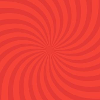 Arrière-plan rouge vif tourbillonnant radial. illustration vectorielle pour la conception de tourbillons. carré de tourbillon en spirale en étoile vortex. rayons de rotation d'hélice. rayures évolutives. faisceaux de lumière du soleil amusants.