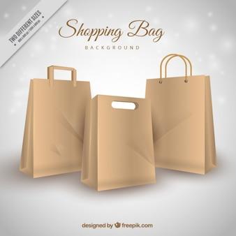 Arrière-plan de sacs en carton