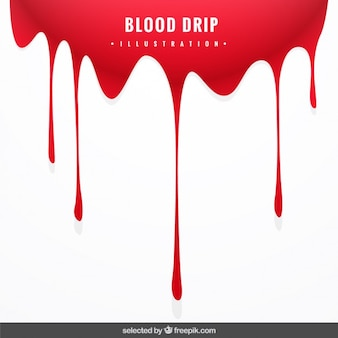 Arrière-plan avec sang goutte à goutte