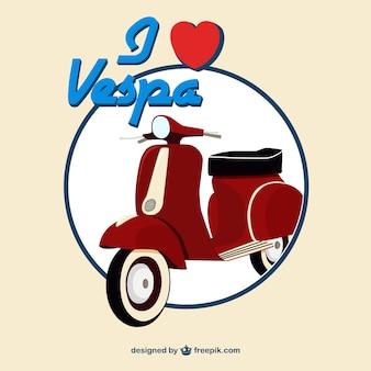 Arrière-plan de scooter vintage rouge