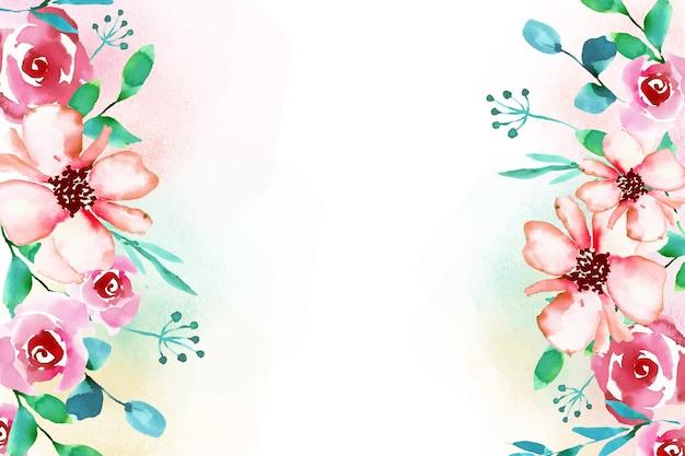 Arrière-plan de style aquarelle floral
