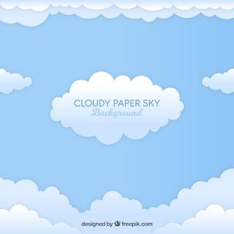 Arrière-plan de style papier nuageux