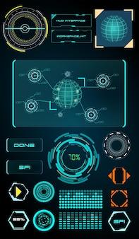 Arrière-plan de la technologie de science-fiction de l'interface d'affichage hud futuriste abstraite