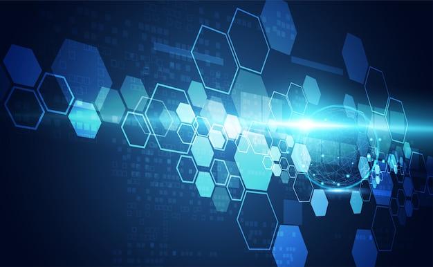 Arrière-plan technologique bleu vif