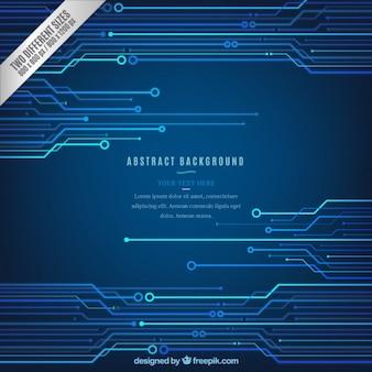 Arrière-plan technologique bleu