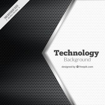 Arrière-plan technologique en noir et blanc