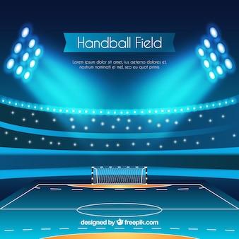 Arrière-plan de terrain de handball dans un style réaliste