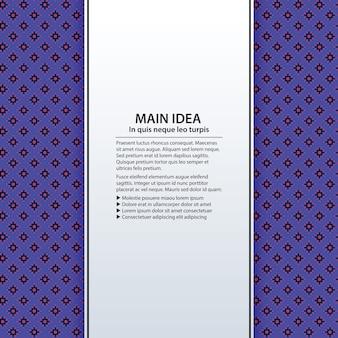 Arrière-plan de texte avec motif coloré. utile pour les présentations, la publicité et la conception web.