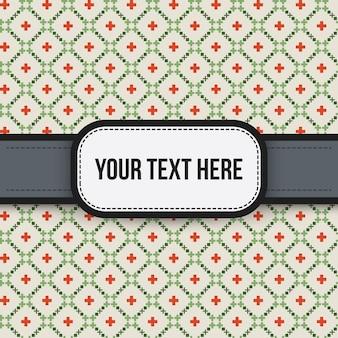 Arrière-plan de texte avec motif coloré. utile pour les présentations, la publicité et le scrapbooking.