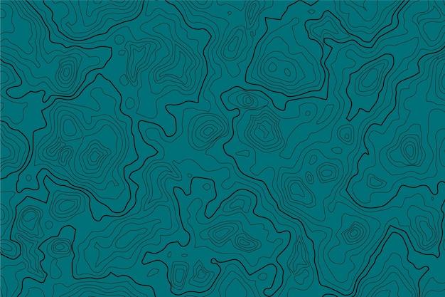 Arrière-plan avec le thème de la carte topographique