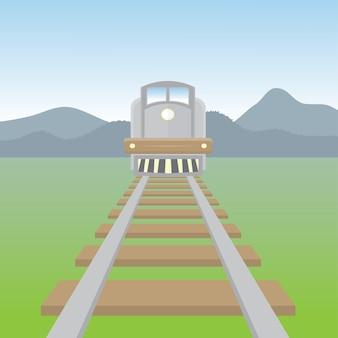 Arrière-plan de train rapide