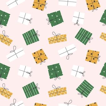 Arrière-plan transparent. boîtes colorées pour les cadeaux. illustration vectorielle