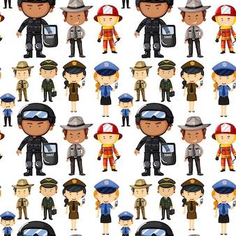 Arrière-plan transparent avec différents types d'emplois