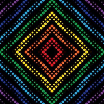 Arrière-plan transparent effet néon géométrique.