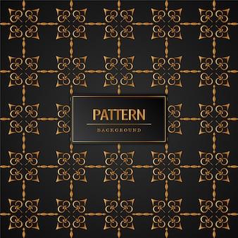 Arrière-plan transparent élégant motif doré