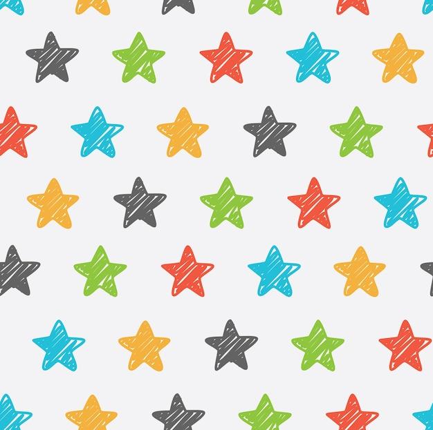 Arrière-plan transparent étoiles sketchy
