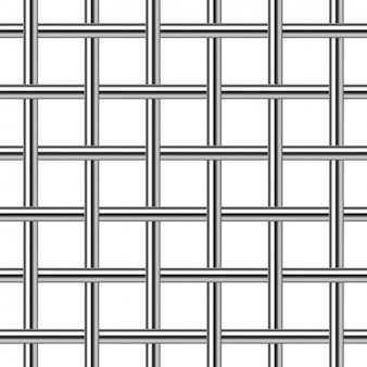 Arrière-plan transparent de grille en métal chromé