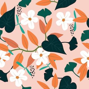 Arrière-plan transparent motif floral printemps coloré