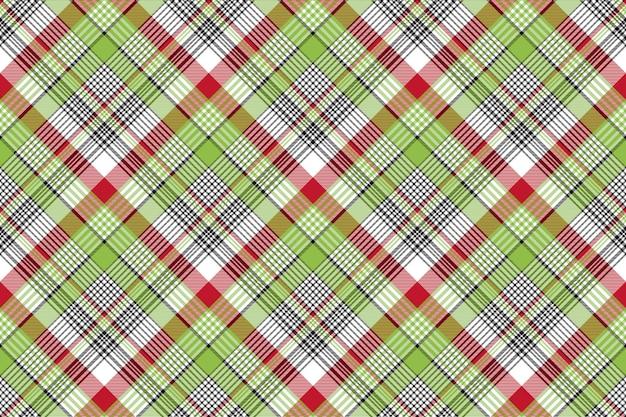 Arrière-plan transparent de texture tissu check rouge vert