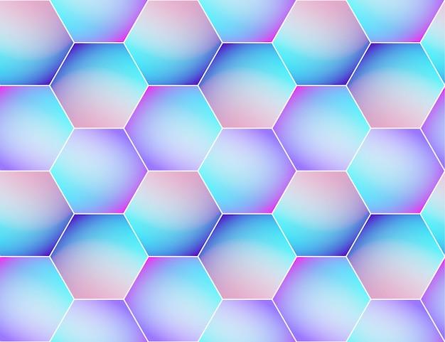 Arrière-plan transparent vecteur holographique