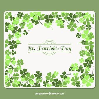 Arrière-plan avec des trèfles dans des tons verts pour le jour de st patrick