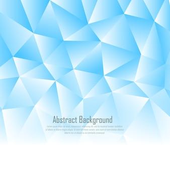 Arrière-plan de triangulation bleu polygonale
